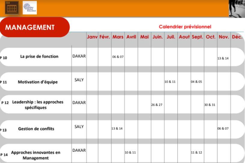 ISM Dakar - Exec Exec agenda