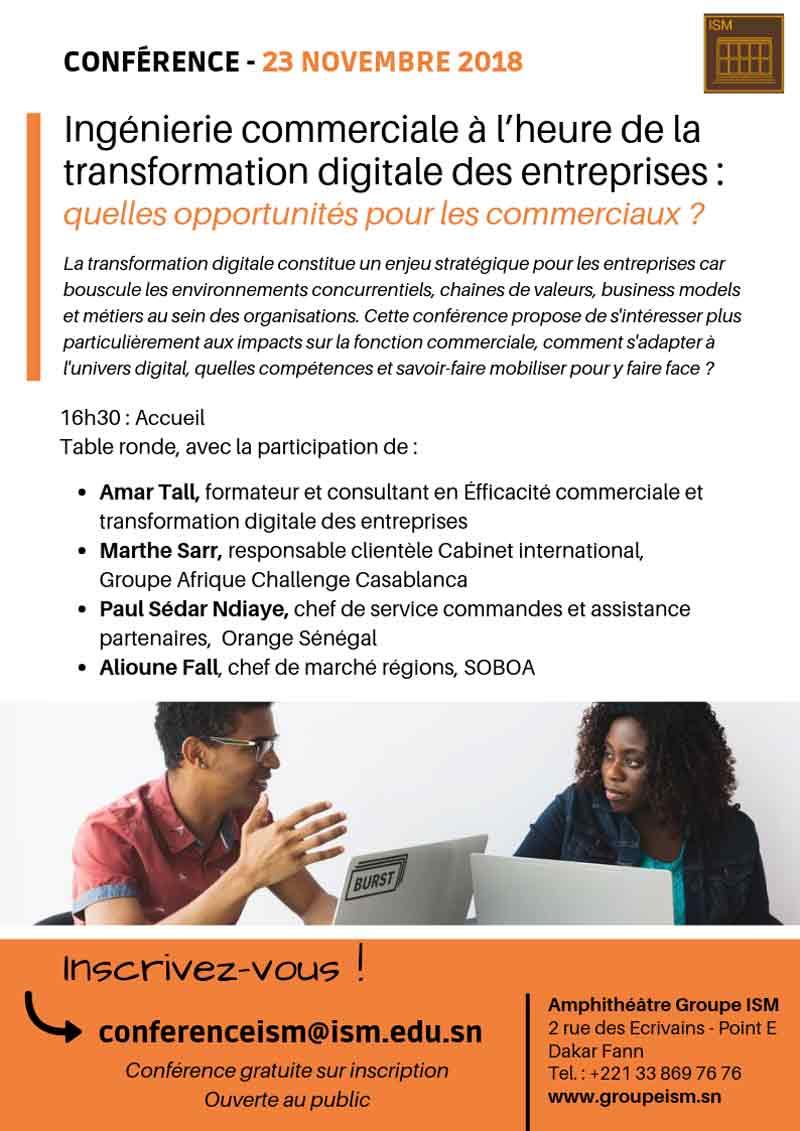 L'ingénierie commerciale à l'heure de la transformation digitale des entreprises : quelles opportunités pour les commerciaux ?