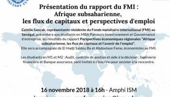 Conférence du Fonds monétaire international (FMI) autour des perspectives économiques régionales
